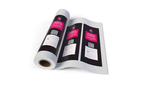 Custom printed roll stock film, representing packaging printing services by The Packaging Lab